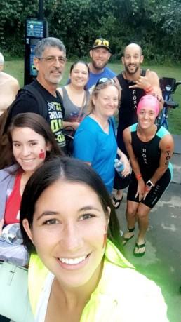 group photo before swim start