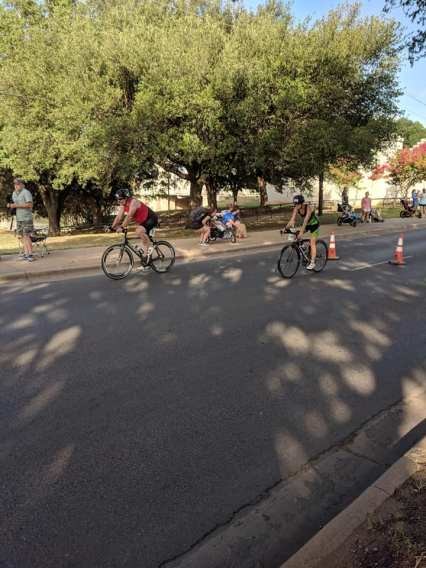 Krista on the bike 2